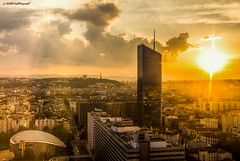 Explo-Sun (Stphane NinO) Tags: city sunset urban cloud sun france color tower architecture photography soleil cityscape lyon pentax wideangle ricoh bulding k1
