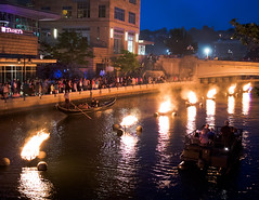 Waterfire (The Flying Inn) Tags: ri water festival night boats fire evening torches providence rhodeisland gondola waterfire providenceriver