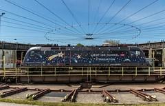 """0975_2016_05_21_Österreich_Salzburg_Traktion_ÖBB_1116_126_""""Licht_ins_Dunkel"""" (ruhrpott.sprinter) Tags: railroad salzburg train germany logo graffiti austria licht österreich diesel outdoor spirit natur eisenbahn rail zug db cargo berge passenger alpen fret taurus freight öbb dunkel blb manfred ins sterne 185 festung 4010 1016 sz 2016 güter 2062 0427 1142 1144 4024 1116 4023 2070 2067 2043 1163 reisezug hohensalzberg ellok railjet westba"""