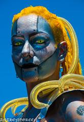 MermaidParade2016-4(NY) (bigbuddy1988) Tags: nyc blue portrait sky people woman usa newyork art yellow wow coneyisland photography costume amazing nikon great makeup mermaidparade d300 nikond300