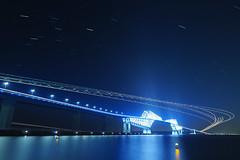 P6260255 (Zengame) Tags: bridge japan architecture night pen tokyo illumination landmark olympus illuminated cc jp creativecommons   zuiko   penf    wakasu   mzuiko  tokyogatebridge 12mmf20 mzuikodigitaled12mmf20