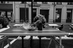 ... (GRZE5) Tags: street ice buildings table glasses champagne warsaw