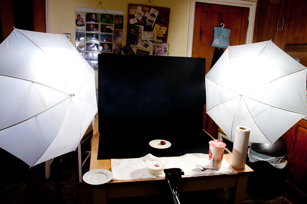 Set up shot for creamy splash shot