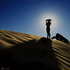 Photo Shoot (bent inge) Tags: travel usa silhouette photo sand photoshoot desert nevada roadtrip deathvalley blusky mygearandme mygearandmepremium bentingeask