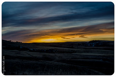 Project 52 - Week 11-5 (Cheerylifelover) Tags: blue winter sky silhouette yellow night fence dawn day earlymorning hills alberta rollinghills cochrane farmbuildings nikond5100 nightturningintoday nearglenbowranch