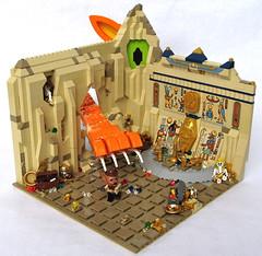 Jack Lightning's Narrow Escape (Imagine) Tags: walter cat toy toys lego tomb egyptian minifig moc fabuland foitsop imaginerigney 2012mocathalon