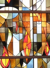 St. Jerome's Stained Glass Detail (hmdavid) Tags: california church glass architecture modern losangeles stained 1960s southerncalifornia westchester midcentury stjerome