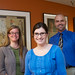 Honors: Holley Ledbetter '12 with Professors Tracy Hamilton and Tony Lilly