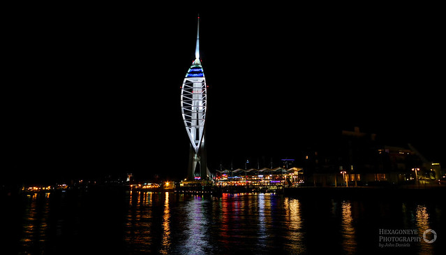 spinnaker tower night