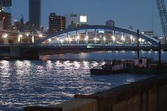Bridge - Komagata Twilight (H.H. Mahal Alysheba) Tags: night canon tokyo twilight snapshot asakusa 50mmf18