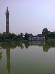 Clock Tower in Hussainabad at Lucknow (Vineet Wal) Tags: india reflection tower heritage clock nokia pond historic clocktower lucknow uttarpradesh oudh nawab awadh hussainabad