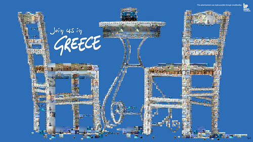 Join us in Greece (Up Greek Tourism: The table) / Charis Tsevis