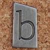 Pewter Ransom Font b (Leo Reynolds) Tags: b canon eos iso100 letter 60mm f8 oneletter bbb letterset lowercase 0ev 025sec 40d hpexif grouponeletter letterpewter letterpewterransom xsquarex xleol30x xratio1x1x xxx2012xxx
