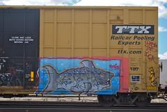 Boise CBS (208 Bench) Tags: art train graffiti paint rail boise boxcar graff freight cbs sfk