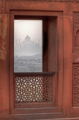 Room with a View (AJ Brustein) Tags: world shadow india heritage window monument birds wall work canon aj haze sandstone view fort balcony delhi ghost overcast taj mahal agra unesco hazy protect intricate redfort mughal agrafort brustein 50d