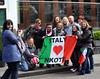 Italian New Kids On The Block fans gather outside a hotel in Dublin hoping to meet their idols Dublin, Ireland