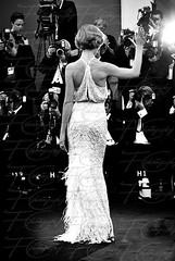 Vittoria Puccini Red carpet (Un instant de moi) Tags: venice bw cinema celebrity film blackwhite lagoon actress laguna venezia lido excelsior filmfestival puccini vittoria mostracinema vittoriapuccini portatrait redcapet nikon60