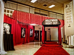 Hollywood Theme Entrance Left Angle (Celadon Events) Tags: decorations design events lounge decoration ceiling nightclub event hollywood theme decor props centerpieces themeparties customwork proprentals ceilingtreatment chiffonswags