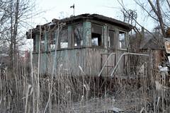 Salvaged Wheelhouse (abandonednyc) Tags: nyc newyork abandoned decay shipwreck urbanexploration nautical statenisland arthurkill boatgraveyard