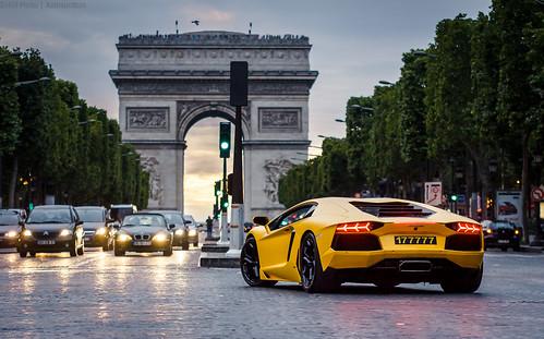 Pretty Yellow Lamborghini Aventador lp700-4 (Gskill photographie) paris france canon sigma lamborghini arcdetriomphe 70200 supercar sportcar champselyse gskill 60d worldcars katrox aventador lp7004