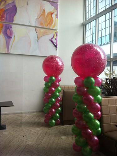 Ballonpilaar Breed Rond Brasserie Staal Rotterdam