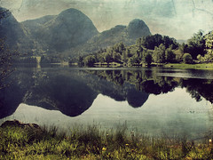 life is a mirror (silviaON) Tags: lake norway landscape july textured 2012 memoriesbook bsactions oracope flypapertextures alledgesactions