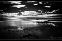 Water&Sky (nighstar) Tags: ocean longexposure bw water clouds canon landscape ir blackwhite grain highcontrast australia queensland infrared 5d cloudscape sandgate markiii 1635mm 720nm 5dmk3 5d3 haidair720