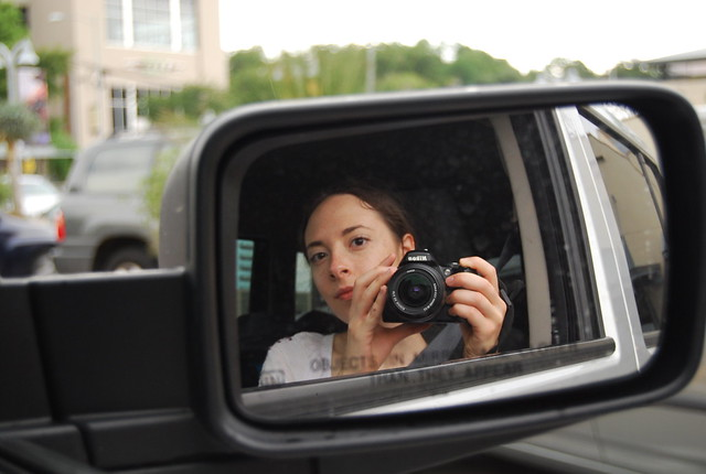 Self Portrait in a Car Mirror 1