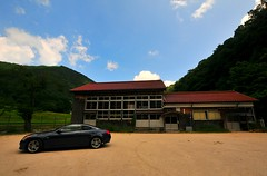 Japanese Typical Countryside -Mindani, Unnan, Shimane, Japan- (Yohsuke_NIKON_Japan) Tags: skyline rural drive countryside nikon nissan sigma elementaryschool shimane coupe infiniti izumo   10mm    unnan   g37  infinitig37    d300s