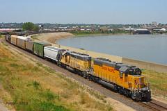 Eastbound UP Yard Job Train at Kansas City, MO (Mo-Pump) Tags: railroad train locomotive railfan railroader