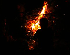 Bonfire Silhouette (5of7) Tags: fire flame flames burn burning wood silhouette bonfire naturallight child children hot camping camp night light dark thechallengefactory challengewinner exposure serene people challengefactorywinner