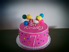 Hello Kitty cake by Elicia www.birthdaycakes4free.com