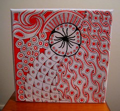 orange canvas 1 (Poppie_60) Tags: pen drawings doodle tangle zentangle zendoodle ziazentangleinspiredart