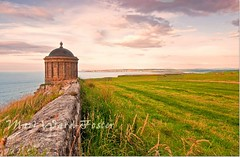 August Evening at Mussenden Temple, Castlerock (MarsW) Tags: sunset interestingness atlanticocean donegal portstewart castlerock portrush southernireland mussendentemple causewaycoast derrylondonderry areaofoutstandingnaturalbeauty myhomevillage downhilldemense thecausewaycoastsglens thegolfcoastofireland