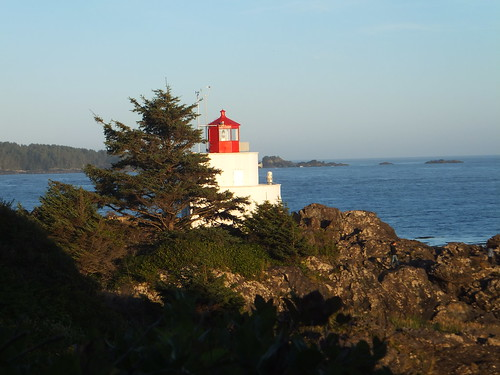 Sunset, Amphritrite Lighthouse, Ucluelet, BC