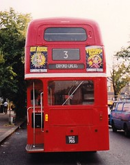 RM765 at Crystal Palace Oct 1990 (Ledlon89) Tags: bus london routemaster parkroyal londonbus londontransport aec alltypesoftransport classichalfcabbuses