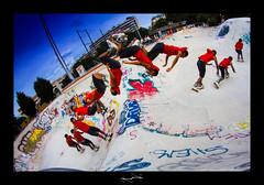 roller man ('^_^ Damail Nobre ^_^') Tags: street city flowers blue france art sport canon french geotagged fun freestyle europe gallery bleu skatepark 7d roller capitale 8mm franais clound francais artiste artistique francais wwwdamailfr