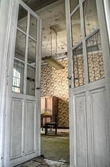 Welcome to my office (Miss Sentinelli) Tags: abandoned belgium belgie monastery urbanexploration klooster urbanexploring ue urbex verlaten sthilarius