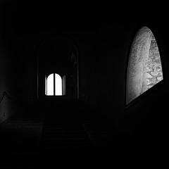 scalone bujo (g_u) Tags: bw scale ombra bn gu bianco nero luce rocca ugo finestre bertinoro