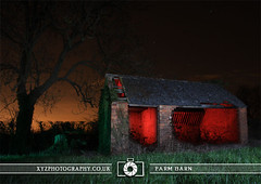 Farm Barn (xyzphotography) Tags: england night dark photography unitedkingdom britain leicester sl lonely losted slowshutterspeed noctural