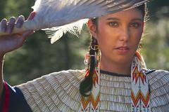 Ashley (austinspace) Tags: park portrait woman river spokane eagle native indian feather idaho american authentic regalia postfalls