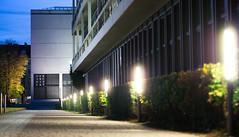 der_architekt (zoesoe) Tags: light architecture night germany munich mnchen lens deutschland lumix licht nacht perspective olympus moderne g3 gebude 45mm pinakothek mft