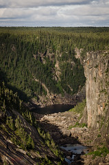 Bowdoin Canyon (WhiteFlowersFade) Tags: voyage travel sky canada forest newfoundland river landscape nikon labrador north roadtrip canyon rivire ciel churchill wilderness paysage nord fleuve tnl terreneuve forts d7k d7000 bowdoincanyon