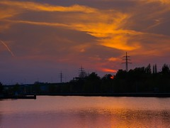 Abendrot (HeinzLustig) Tags: city blue sunset sky urban berlin nature water germany dark photography photo nikon wasser natur himmel wave stadt blau berliner wellen blauestunde d600 nikond600