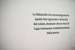 Un Fotografo (cocciula) Tags: mostra sardegna man sardinia museo fotografia cultura reportage muri frasi robertcapa allestimento nuoro citazioni retroscena