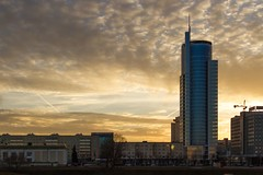 Sunset Over My Hometown of Minsk (El Mariachi Minsk) Tags: lighting street city trip travel light sunset sky sun sunlight color colour reflection building tower home nature glass colors beautiful skyline architecture clouds canon buildings reflections dark spectacular eos evening march town spring colorful europe soft moments skies shine dusk capital structures illumination dramatic sunny wideangle structure burning handheld streetphoto geography moment belarus sunlit picturesque canoneos shining minsk lanscape magnificent easterneurope springtime creamy urbanlandscape thirds softy 2014 ruleofthirds lseries llens canon24105l naturalillumination skycloudssun canon24105f4lusm canon2415