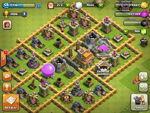 Clash of Clans Heads-Up Display, Gameplay: screenshots, UI