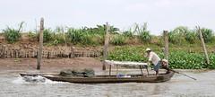 Man @ work (Iam Marjon Bleeker) Tags: boat manatwork wave vietnam friendly mekongdelta mekong mekongriver livinginthemekongdelta dailylifeatthemekongriver vpdag111060564g