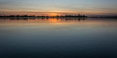 evening panorama (stevefge (away travelling)) Tags: sunset red sky panorama water netherlands evening sundown nederland weurt grindgat reflectyourworld