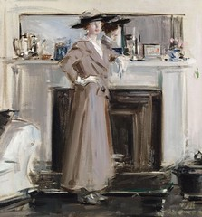 Reflections, 1913-15 // by Francis Campbell Bolleau (F.C.B.) Cadell (mike catalonian) Tags: uk female painting portait fulllength 1910s 1915 xxcentury